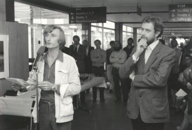 Patio of the BRT (Belgian Radio and Television) in Brussels – Introduction by Wim Van Gansbeke .