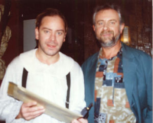 Met Chris Van den Durpel in jeugdreeks Interflix, november 1995.