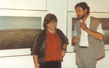 Robert Kino during an exhibtion in gallery
