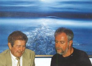 Met Jo Röpcke in atelier, 1997.
