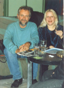 Kristien Dehollander in atelier, november 1995