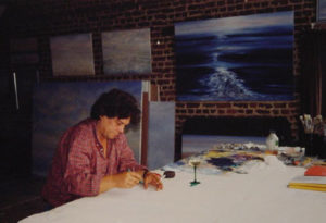 Johan Verminnen in atelier, augustus 1997.