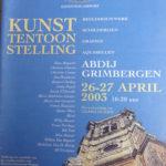 2003 Catalogue expo dans l'Abbaye de Grimbergen