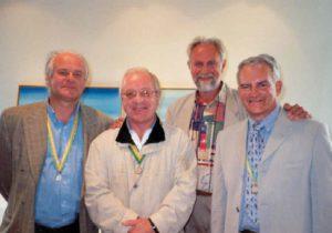 Peter Germonprez, Walter Capiau, Ro Burms op vernissage in Casino