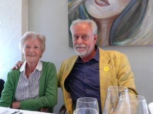 2012 08 25 Samen met dochter van kunstschilder Albert Servaes in St. Martens-Latem