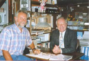Walter Capiau in atelier, augustus 1998.