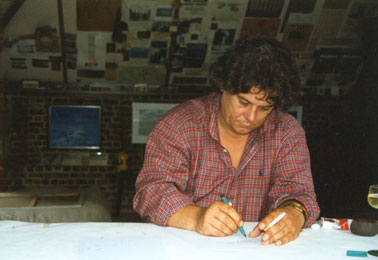 Johan Verminnen in his studio in August 1997