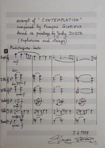 Origineel geschreven deel van de partituur