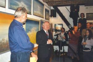 """Grote tentoonstelling in atelier: 1970-2000 met viering """"30 jaar Atelier JACKY DUYCK"""" in Dilbeek met inleiding door Walter Capiau."""