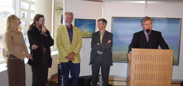 Valerie Vandamme, Peter Vermandere, Herwig Vollon, Marc Vanden Bussche (mayer of Koksijde)