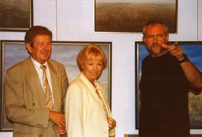 Mevrouw en Jo Röpcke in atelier, 1997.