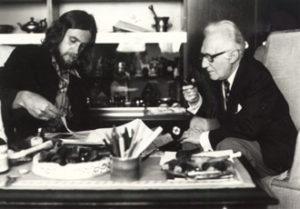 Ten huize van dichter Pieter G. Buckincx te Laken in 1977 ter voorbereiding van het boek