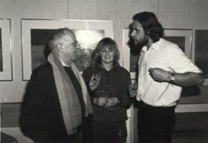 Phil Bosmans, Brigiet in atelier te Dilbeek, 1980.