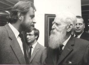 Jacky Duyck et Félix De Boeck à l'exposition de 1984.