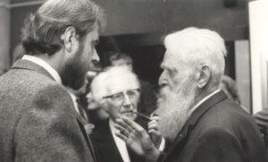 Jacky Duyck, Pieter G. Buckincx et Félix De Boeck à l'exposition de 1984.
