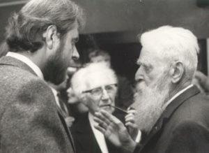 Jacky Duyck, Felix De Boeck en Pieter G. Buckincx op tentoonstelling in 1984.