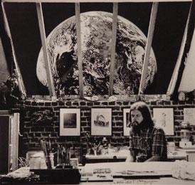 Kosmisch gebeuren (Cosmic event) 1979 (...)  en de aarde kwam langzaam voorbijgeschoven. (and the world slowly slid past