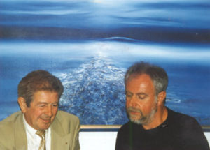 In his studio with Jo Röpcke, 1997