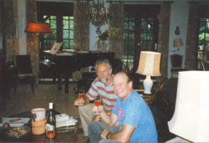 At François Glorieux's home, 1998