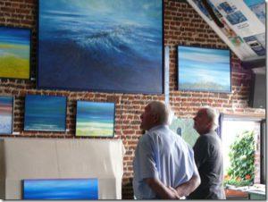 Paul VAN HIMST in atelier 22 augustus 2012