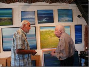 Will Ferdy op bezoek in atelier op 18 juli 2013
