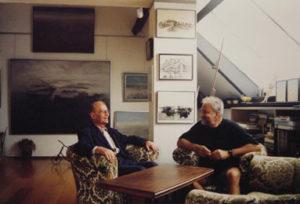 André Van Laere in atelier, zomer 1997