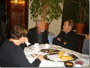 In company of the actor Rene VERETH on January 25, 2012