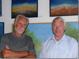 With the legend of football Paul VAN HIMST in his studio on August 22, 2012