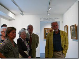 On the official opening of new museum GEVAERT- MINNE  in St. Martens - Latem on August 25, 2012