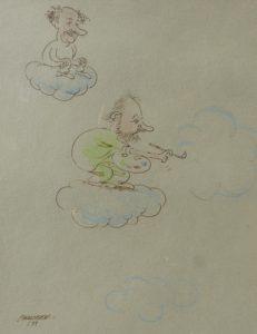 Cartoon van Brasser 1999 Jacky en Dirk Frimout