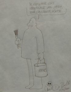 Cartoon van Emiel De Bolle voor Jacky