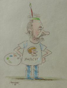 Cartoon voor Jacky en Brigiet van Brasser 1999