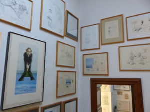 Expo in atelier van de originele cartoons (1)
