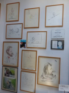 Expo in atelier van de originele cartoons (2)
