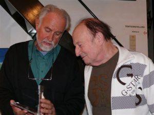 Pianovirtuoos Francois GLORIEUX op bezoek in atelier te Dilbeek