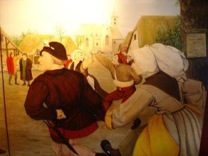 Hommage aan Pieter BREUGEL 1991 een drieluik voor Den Coninck van Spaignien op de Grote Markt te Brussel