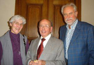 Zuster Lutgardis CRAEYNEST, Jos MERTENS en Jacky DUYCK,  drie ereburgers van Dilbeek