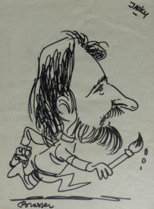 Karikatuur van Brasser voor Jacky