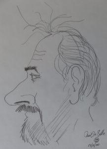 Karikatuur van Emiel De Bolle