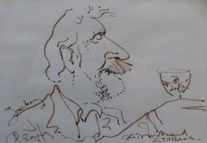 Caricature de Karel Op de Beeck