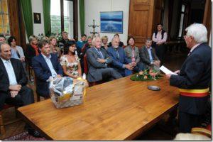 Hommage à Franky VERCAUTEREN, joueur de football,  à l'hôtel de ville   de Dilbeek le 20 juin 2012