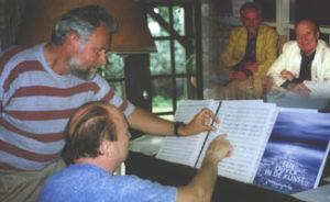 Thuis bij François Glorieux op 18 mei 1998 speelt hij