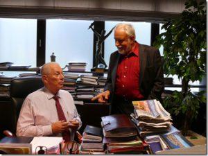 Au bureau de MISTER MICHEL – Michel VERSCHUEREN -  RSCA à Anderlecht