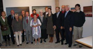 Op de tentoonstelling in aanwezigheid van de vijf ereburgers van Dilbeek:  Paul VAN HIMST, Jacky DUYCK, Zuster Lutgardis CRAEYNEST, Alice TOEN en Jos MERTENS